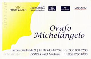 Orafo Michelangelo Castel Madama